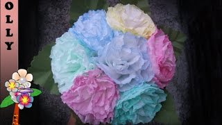 How To Make Paper Flowers Bouquet : Colorful Carnations