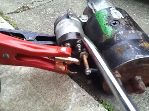 How To Test A Car Starter With A Screwdriver And Jumper Cables!