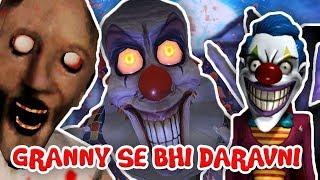 GRANNY SE ZYADA DARVANI HORROR GAME IN HINDI || SCARY CLOWN