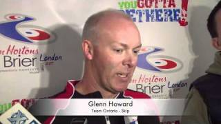 2011 Tim Hortons Brier Draw 12 Media Scrum