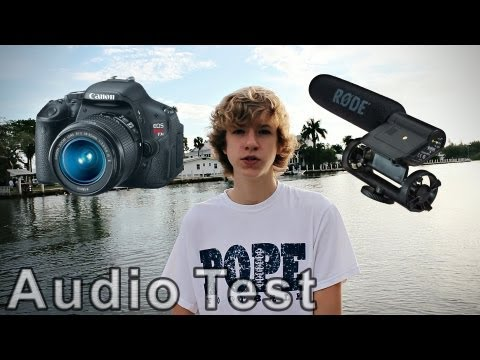 Rode VideoMic Audio Test (with Canon T3i)