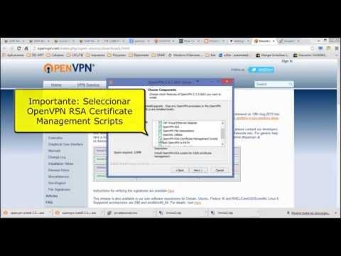 Instalacion de OpenVPN en Windows y Certificados