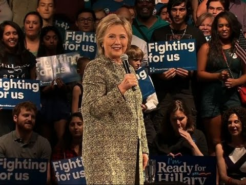 Clinton Talks Climate Change at Florida Rally