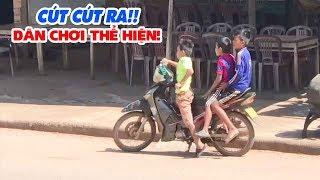 Cút cút ra cho dân chơi thể hiện đi xe máy 😂