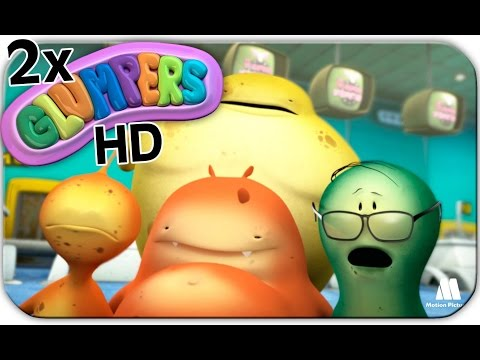 Glumpers travelling, kids cartoon series. Two episodes