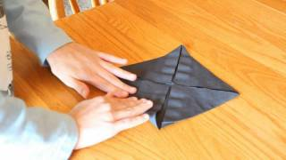 How To Make An Origami Napkin Flower