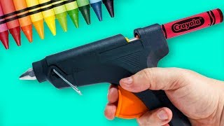 Colorful Crayon Ideas And Hacks | Easy Craft Ideas | DIY Crayon Crafts | Craft Factory