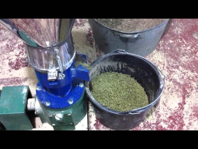 Как сделать травяной гранулятор самодельный видео
