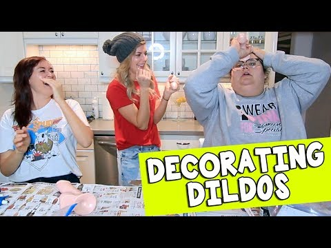 DECORATING DILDOS w/ MAMRIE & CHRISTINE // Grace Helbig