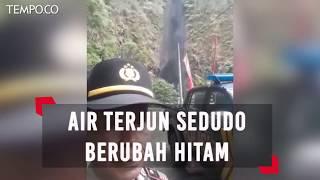 Video Viral: Air Terjun Sedudo Berubah Hitam