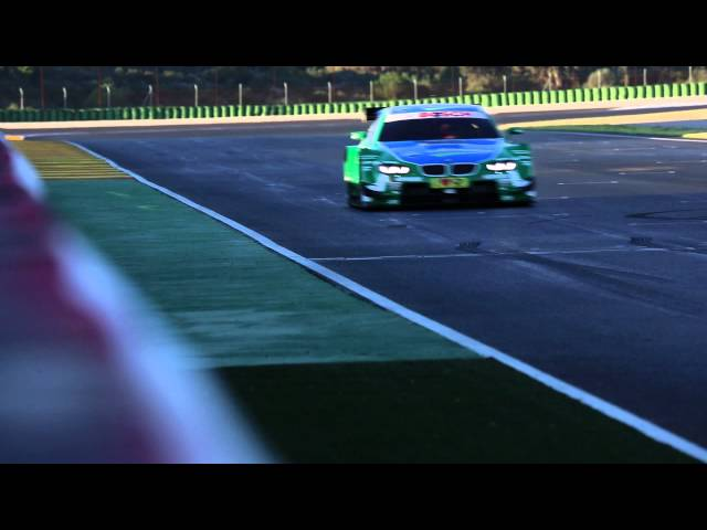 BMW DTM M3 Testdrives: Driving action at Valencia.