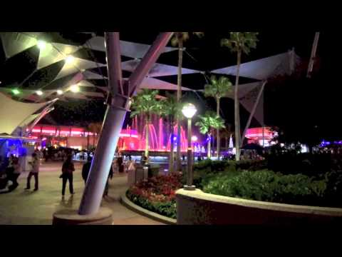 Epcot Center at Night  Walt Disney World 2012 December 4th HD