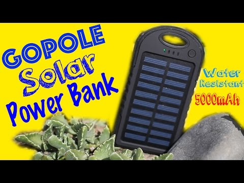 GoPole Dual Solar Charging Power Bank For GoPro, SJCAM, and Cell Phone (Braaap Reviews: Episode #6)