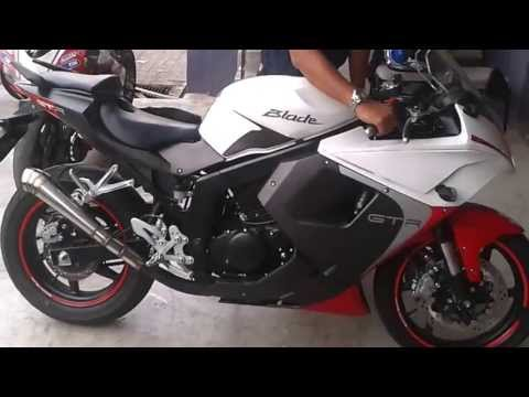 Hyosung . Naza Blade . Comet GT250R SOUND WITH GP MUFFLER