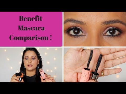 Benefit Roller Lash VS  Benefit They're Real | Comparing 2 Benefit Mascaras! | Monica Sumant