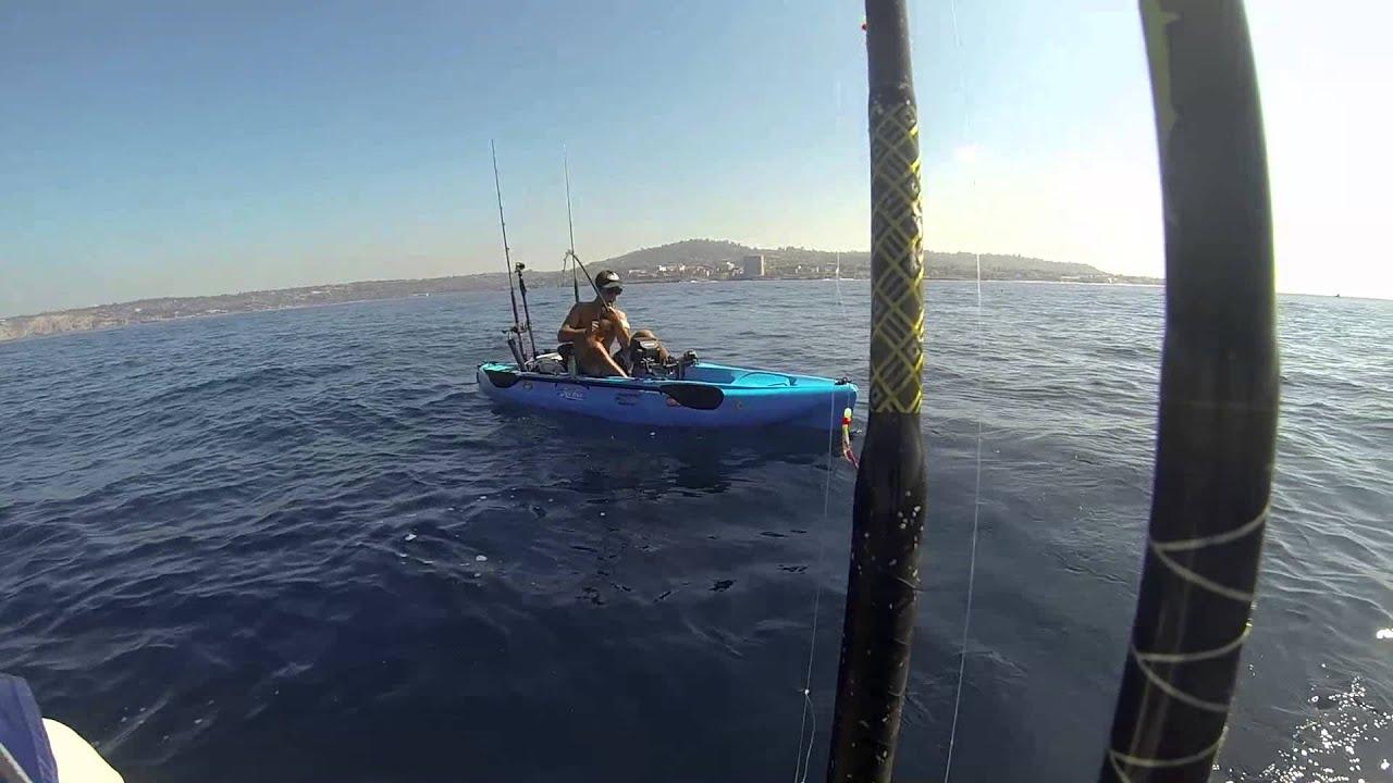 La jolla kayak fishing 18lb yellowtail youtube for La jolla fishing
