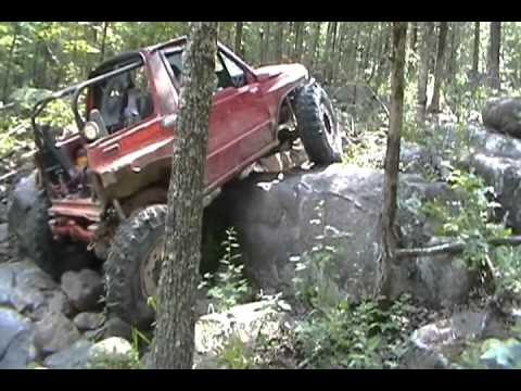 rock crawling tracker on washita offroad waterfall youtube