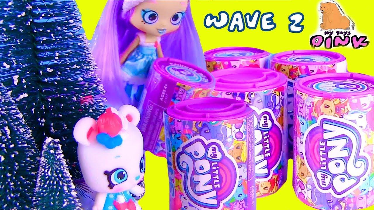 MLP Май Литл Пони Сюрпризы + Шопкинс My Little Pony Surprise Blind Bags Wave 2 Распаковка + Мультик