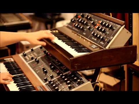 Bob Moog's birthday 2012 - Memorymoog and Minimoog