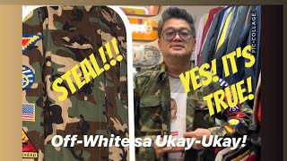 I SCORED A LEGIT OFF-WHITE JACKET FROM AN UKAY-UKAY RESELLER! MORE VINTAGE STREETWEAR  FOR SALE!