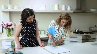 Chocolate & Caramel Choux Bites Tutorial | Even Better Baking with Stacey Solomon and Emily