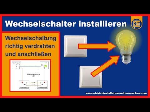 Wechselschalter anschließen und montieren - Elektroinstallation Wechselschaltung