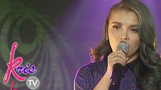 KZ Tandingan sings Alone on Kris TV