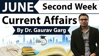 June 2018 current affairs in English second week set 1 - IBPS/SSC CGL/CHSL/LDC/Police/KVS/UGC/CLAT