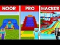 Minecraft - NOOB vs PRO vs HACKER : WATER SLIDE in Minecraft ! AVM SHORTS Animation