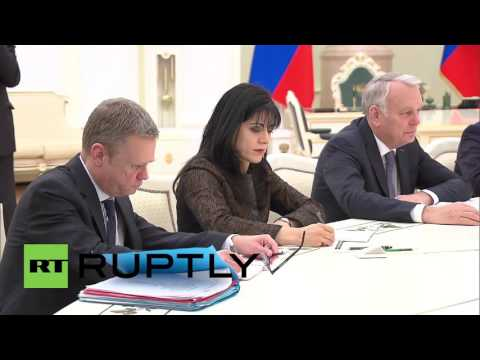Russia: Putin talks up Russia-France relations during French FM meeting