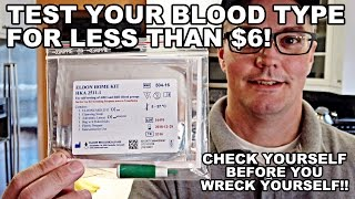 Test Your Blood Type for Under $6! EldonCard In-Home Test
