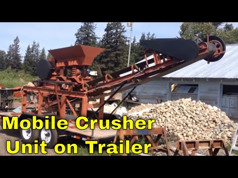 MBMMLLC.com: Jaw crusher, feeder, and discharge conveyor belt all mobile on trailer