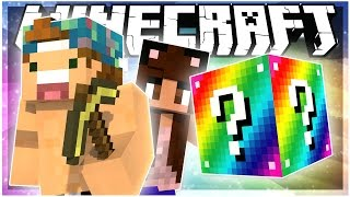 RAINBOW ROAD LUCKY BLOCK RACE! w/ YAMMYXOX | Rainbow LuckyBlock Mod | Minecraft