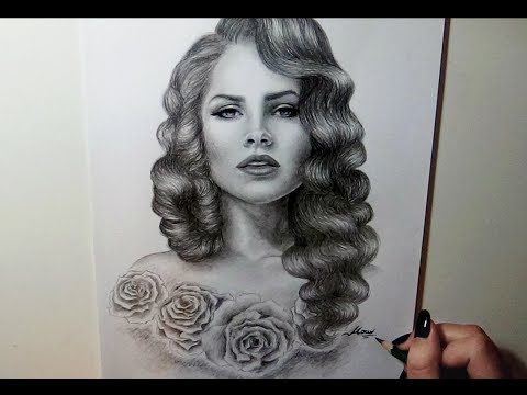 Drawing Lana Del Rey