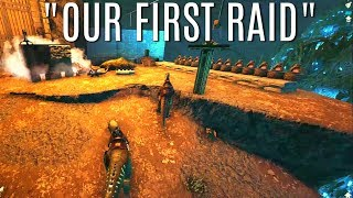 FIRST RAID FOR PROFIT and Snail Tame - Official 6 Man Tribes - ARK Survival