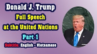 Learn English through the full speech by Donald Trump at the United Nations (Part 1)