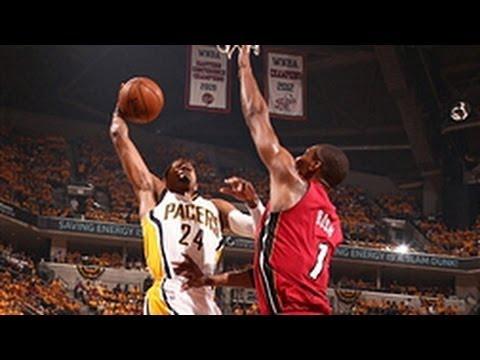 Paul George's POSTERIZING dunk on Bosh! - YouTube