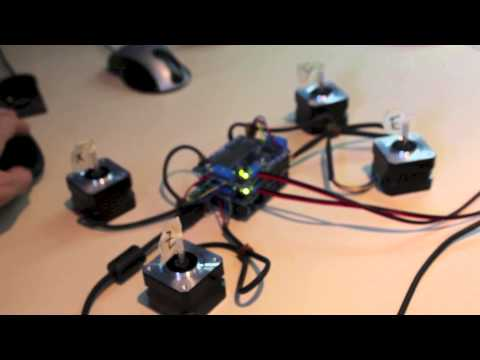 Let's Make a 4-axis CNC Gcode Interpreter for Arduino