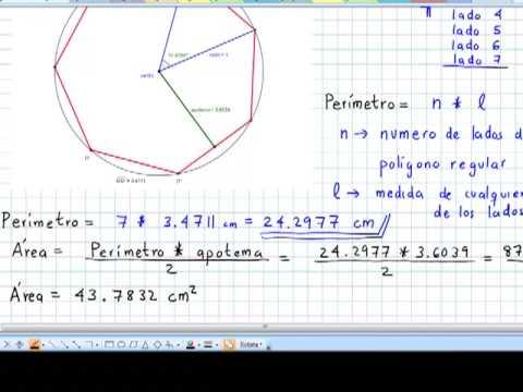Formula area heptagono