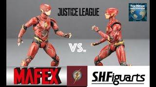 Justice League Movie Flash Figure - MAFEX VS S.H. Figuarts