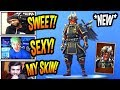 STREAMERS REACT TO *NEW* SHOGUN SAMURAI SKIN! *LEGENDARY* Fortnite FUNNY & SAVAGE Moments