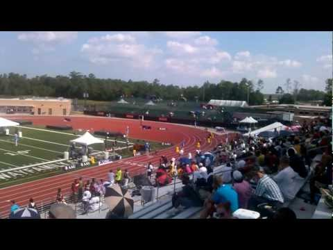 Mekhi Richardson 400 meter dash 14yr old AAU Jr. Olympics Semifinals 2012 : 27th overall