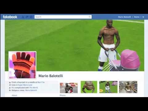 Mario Balotelli destroys Ashley Cole on Fakebook | Funny LADotelli