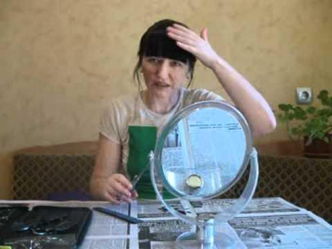 Видео как подстричь челку самостоятельно