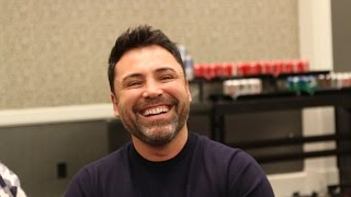 Oscar De La Hoya on Mayweather Pacquiao, Cotto vs Canelo & hilarious Arum story - Full Video Scrum