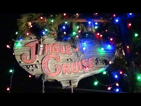Jingle Cruise Night Time Ride Through POV Christmas Jungle Cruise Magic Kingdom Walt Disney