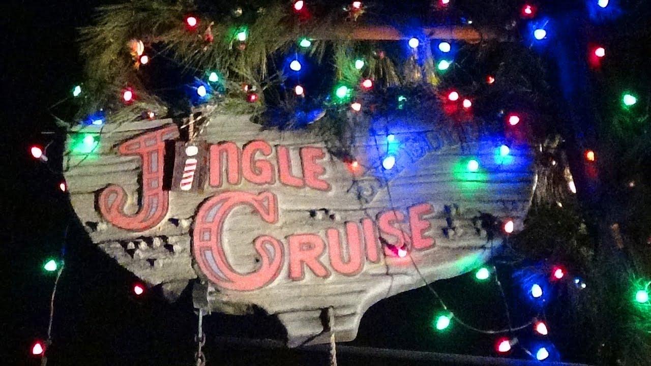 Jingle Cruise Night Time Ride Through Pov Christmas Jungle