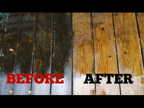 how to clean a slippery wood deck