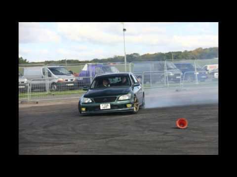 Lexus is200 Drift with 150HP standard power (low power car drift) DWYB Santa pod race way