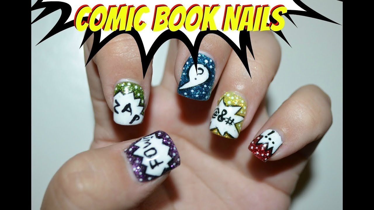 Newspaper Comic Nails Comic Book Nail Tutorial